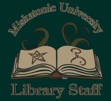Cthulhu Tee Miskatonic U. Library Staff by KennefRiggles