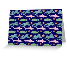 Sea Creature Pattern Greeting Card