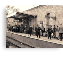 Railway station rush hour  Canvas Print