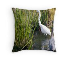 Two Beautiful Herons Throw Pillow