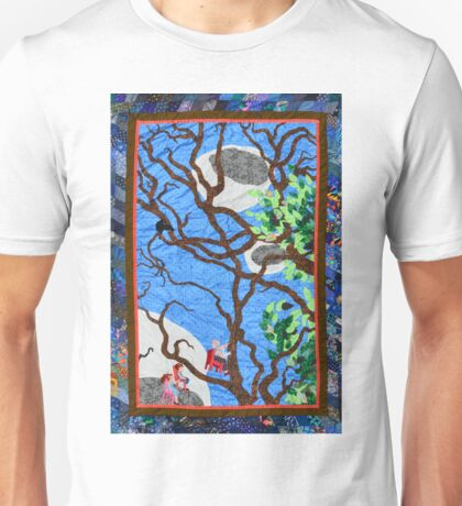 Three Flying Chairs - A Quilt Unisex T-Shirt