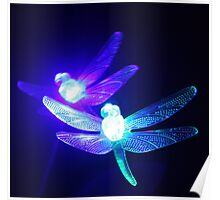 Dragonfly Glow Poster