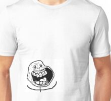 """happy forerver alone"" - rage faces Unisex T-Shirt"