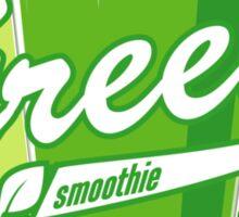 Green smoothie tee Sticker