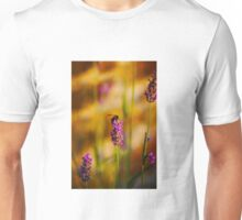Bee on lavender Unisex T-Shirt