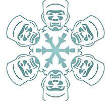 Frankenstein Snowflake by pounddesigns