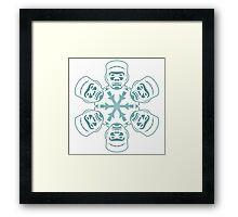 Frankenstein Snowflake Framed Print