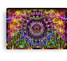 Violet Crystals Difference Canvas Print