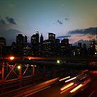 Atop the Brooklyn Bridge by Emily Swanson