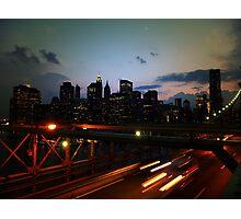 Atop the Brooklyn Bridge Photographic Print