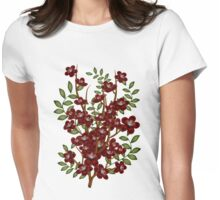 Winter flowers Womens Fitted T-Shirt