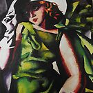 Study of lady in green- Tamara de Lempicka by KatieEBligh