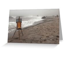 Rusty Easel Greeting Card