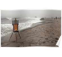 Rusty Easel Poster