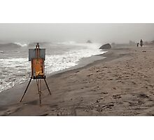 Rusty Easel Photographic Print