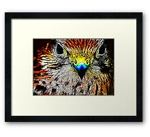 Fractual Eagle Framed Print