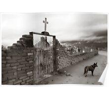Taos Pueblo Cemetery - New Mexico Poster