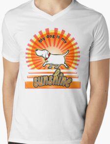 My Dog Is My Sunshine Mens V-Neck T-Shirt