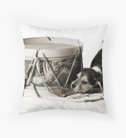 Pouncing Puppy Throw Pillow