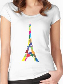 Eiffel tower abstract - Paris, France Women's Fitted Scoop T-Shirt