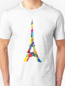 Eiffel tower abstract - Paris, France T-Shirt