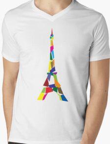 Eiffel tower abstract - Paris, France Mens V-Neck T-Shirt