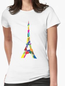 Eiffel tower abstract - Paris, France Womens Fitted T-Shirt