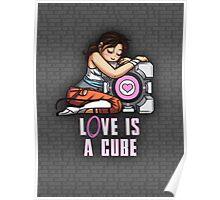 L0VE is a CUBE (Portal 2 ver.) Poster