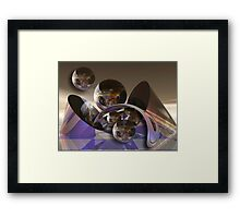 Space Ball Framed Print