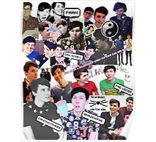 Danisnotonfire and AmazingPhil Collage Poster