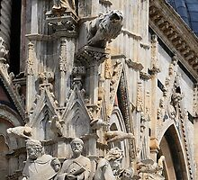 Cathedral Facade detail - Siena by Blagnys
