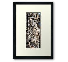 Cathedral Facade detail - Siena Framed Print