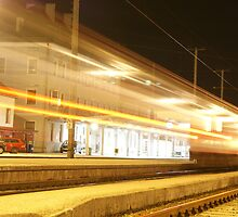 Incoming light train by WET-photo