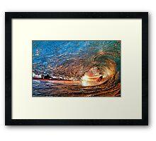 Ocean Tidal Wave Framed Print