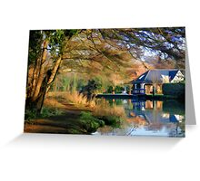Winter Morning on the Wey Greeting Card