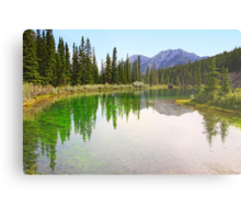 Mount Lorette Ponds Metal Print