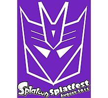 Splatfest Team Decepticons  v.1 Photographic Print