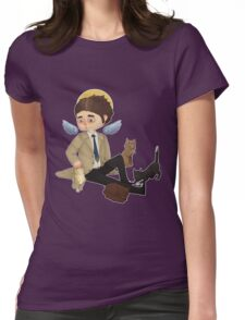 Castiel and cats Womens Fitted T-Shirt