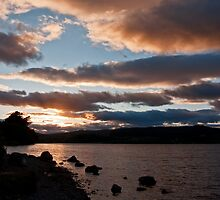 As The Sun Sets Over Loch Rannoch by Bel Menpes