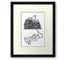 Phone Call from the Amazon Framed Print