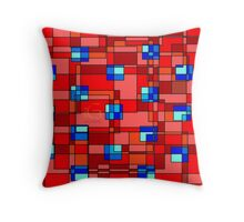 Geometric Polka Blocks  Throw Pillow