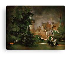 Bożków Castle...1890 y Canvas Print