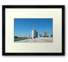 Una bella perspectiva...........................................Miami Framed Print