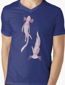 Axolotl friends Mens V-Neck T-Shirt