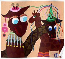 Carnevalgiraffe Poster