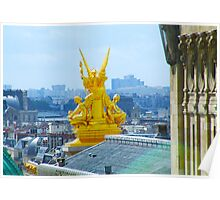 Paris from Galeries Lafayette Poster