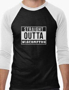 Straight Outta Wiscompton Men's Baseball ¾ T-Shirt
