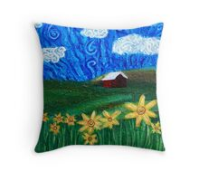 Countryside Bliss: Squigglism Throw Pillow