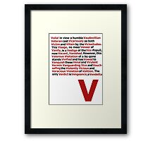 V for Vendetta- V Speech Framed Print
