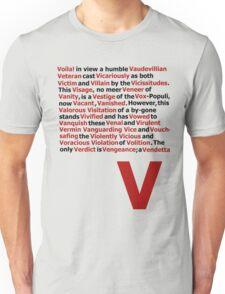 V for Vendetta- V Speech Unisex T-Shirt